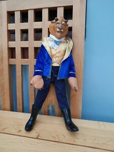 Disney Store Beauty & The Beast Transforming Beast/Prince Adam classic Doll RARE