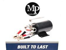 12-Volt Portable Water Transfer Utility Pump 330 GPH Metal Connector, Pool pond