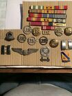 NICE+LOT+OF+MILITARY+ITEMS-MEDALS+RIBBONS+BADGES+PINS+BUTTONS+%26+MORE