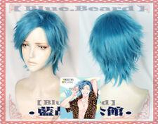 Anime yarichin Perra-BU Tamura Corto Azul Cosplay pelucas peluca de Halloween FFG.829