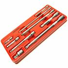 1/4 / 3/8 and 1/2 drive wobble extension bar 9pc set 50mm 230mm BERGEN AT564