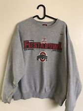 Vintage Nike Ohio State Buckeyes Football Crewneck Pullover National Champs XL