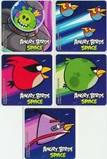 5 x Square Stickers ~ Angry Birds Space Green Red Bird Purple Party Favours ~