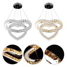Crystal Chandelier LED Lighting Hanging Pendant Fixtures Room Decoration 2 Light