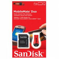 kQ Sandisk microSDHC Kartenleser SDDRK-121 mit SD SDHC Adapter microSD Reader
