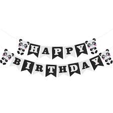 Panda Happy Birthday Felt Banner Bunting Garland for Kids Birthday Party DecorLS