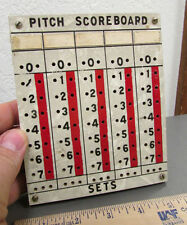 hand made PITCH scoreboard with 2 pegs, wood 6 x 5 inches, unusual collectible