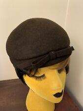 Vintage Brown 40s 50s Hat