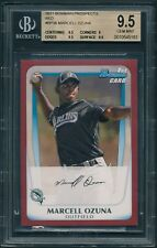 2011 Bowman Prospects MARCELL OZUNA Red Paper 1/1 ROOKIE BGS 9.5 [BBE]