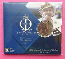 2012 ROYAL MINT HM THE QUEEN DIAMOND JUBILEE  FIVE POUNDS £5 BU COIN PACK