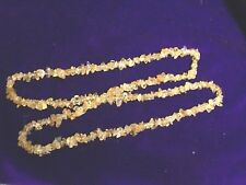 32 INCH STRING/ROUGH CUT/CITRINE/BEADS/NECKLACE