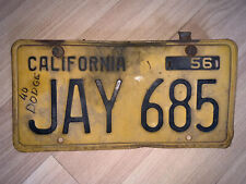 vintage california license plates 1951 1956