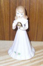 Enesco 1982 Porcelain Figurine Growing Up Birthday Girls Brunette Age 9 Vintage
