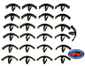 25pcs Hood Insulation Pad Radiator & Splash Shield Clips Ford Lincoln Mercury SM