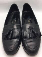 Bally Of Switzerland Men's Black Leather Moc Toe Tassel Loafers Shoes 10 N