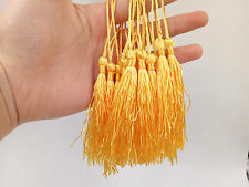Fashion Tassel Pendants Polyester Trim Mixed Craft Applique Jewelry Making DIY Gold Yellow 100pcs