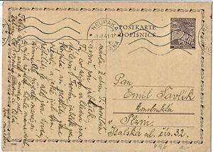 Böhmen und Mähren P 9 b, Postkarte echt gelaufen, #m738