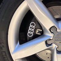 Audi Rings Logo Brake Caliper High Temp. Vinyl Decal Sticker (Any Color) 4X