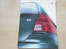 52338) VW Bora Variant - technische Daten & Austattungen - Prospekt 10/2000