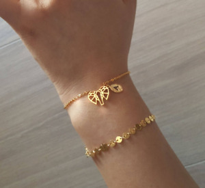 Anklet, Gold dangling ankle bracelet, Foot Jewelry