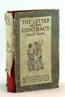 Basil King 1st Ed 1914 The Letter of the Contract Canadian Spiritualism HC w/DJ