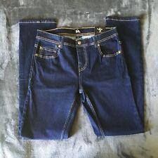 NWOT Women's Quicksilver Dark Blue Denim Jeans Slim Size 28