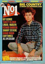 Stuart Adamson on Magazine Cover 14 January 1984  Duran Duran  Boy George Limahl