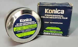 Konica SR200 46mm Color Negative Film, Non-Perforated, 100 Feet FROZEN, SEALED!