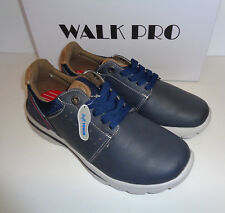 Mens Memory Foam Trainers Walk Pro Navy Lace Up New Shoes UK Sizes 7-11