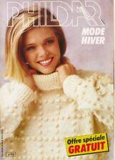 Revue de mode Catalogue de tricot - PHILDAR mailles n°111  - Mode Hiver - Pull