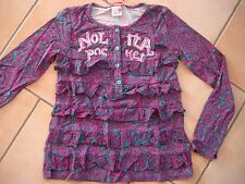 (259) Nolita Pocket Girls langarm Shirt A-Form + Logo Stickerei & Volants gr.140