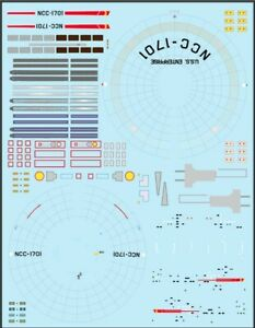 Newly updated USS enterprise NCC-1701 1/1000 Polar Lights Trek TOS decals