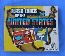 Vintage Flash Cards of the United States- Quiz Game #277 Edu-Cards 1975 Complete
