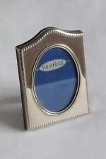"""Silver plated 'Fairfield' photo frame with beaded edging 3""""x2"""" aperture"""