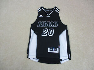 Adidas Justice Winslow Miami Heat Jersey Youth Small Black White NBA Boy Kids *