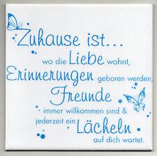 Dekofliese Wandbild Bildfliese Zuhause ist ... (059DP) Handarbeit 15x15cm