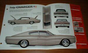 ★★1966 DODGE CHARGER ORIGINAL IMP BROCHURE SPECS INFO 66 67 MOPAR CUSTOM★★