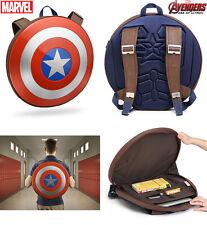 Marvel Authentic Avengers Captain America Hard Plastic Shield Backpack Brand New