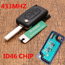 2 Buttons 433MHz PCF7961 Transponder Remote Fob Key For Peugeot 207 307 308 407