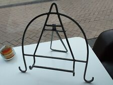 Metal book picture stand easel style with FOLDING LEG silver colour FREE UK POST