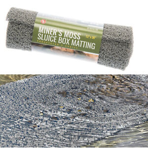 "Miner's Moss 12"" x 36"" Sluice Box Matting Grey"