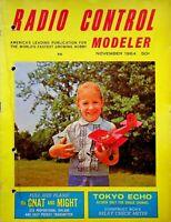 Vintage Radio Control Modeler RCM Magazine November 1964 Plans Gnat & Might m242