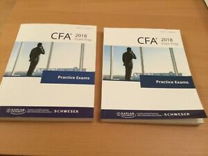 CFA Level 3 Kaplan Practise Exam Books 1 and 2 For Revision