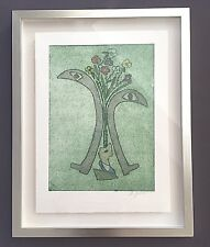 "Rita Galle Mixed Media Etching And Aquatint French 20th Cent. 15 1/2"" x 19 3/4"""