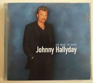 JOHNNY HALLYDAY  - CD 1ère édition limitée - CE QUE JE SAIS ♦  duo Obispo ♦