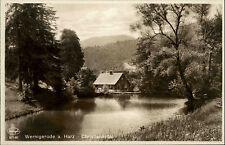 WERNIGERODE Harz ~1930/40 Waldpartie Haus im Christianental Verlag Carl Fuchs