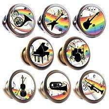 Zinc Alloy Knobs Musical Instruments 30mm Cupboard Drawer Door Handles Decorated
