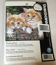Dimensions Needlepoint Kittens Darling Duo Kit 2 Cats Needlepoint Cute Kittens