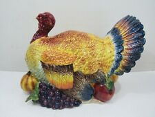 Signature Home Collection Harvest Turkey Hand Painted Center Piece (Pg168B)