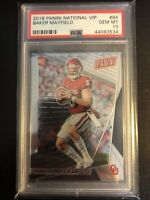 2018 Panini National Convention VIP Baker Mayfield Rookie PSA 10 Sooners Browns